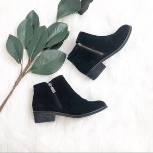 Blondo | Black Suede Ankle Boots